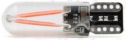 Imagem de C362 - T10 Silicone 2 Filamentos COB Vermelho