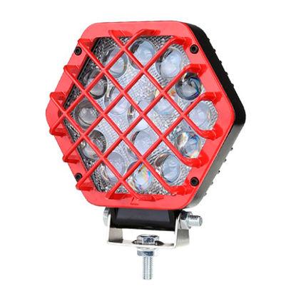 Imagem de F48W-GV - Farol Off Road 16 LED 48W Grade Vermelha Bivolt (diametro 14cm)