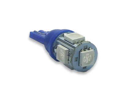 Imagem de C084 - Lâmpada T10 Pingo Esmagada 5 Leds SMD Azul 12V