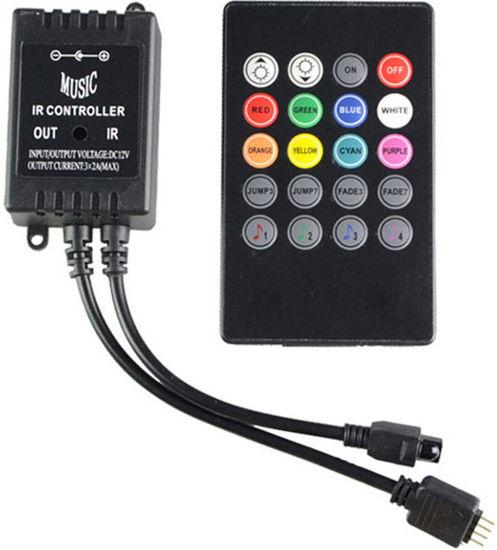 Imagem de C472 - Controle Ritmico Som Automotivo p/ Fita Led RGB 12V