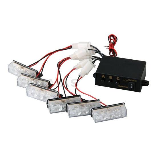 Imagem de C723 - Estrobo c/ Controlador 6 x 3 LED Branco 12v