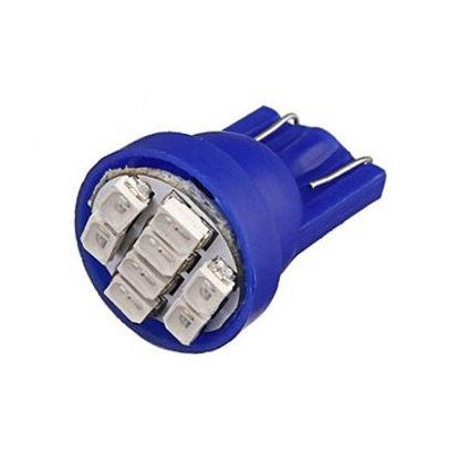 Imagem de T200 - T10 Esmagada 8 1206 SMD Azul (meia-Luz) 24V