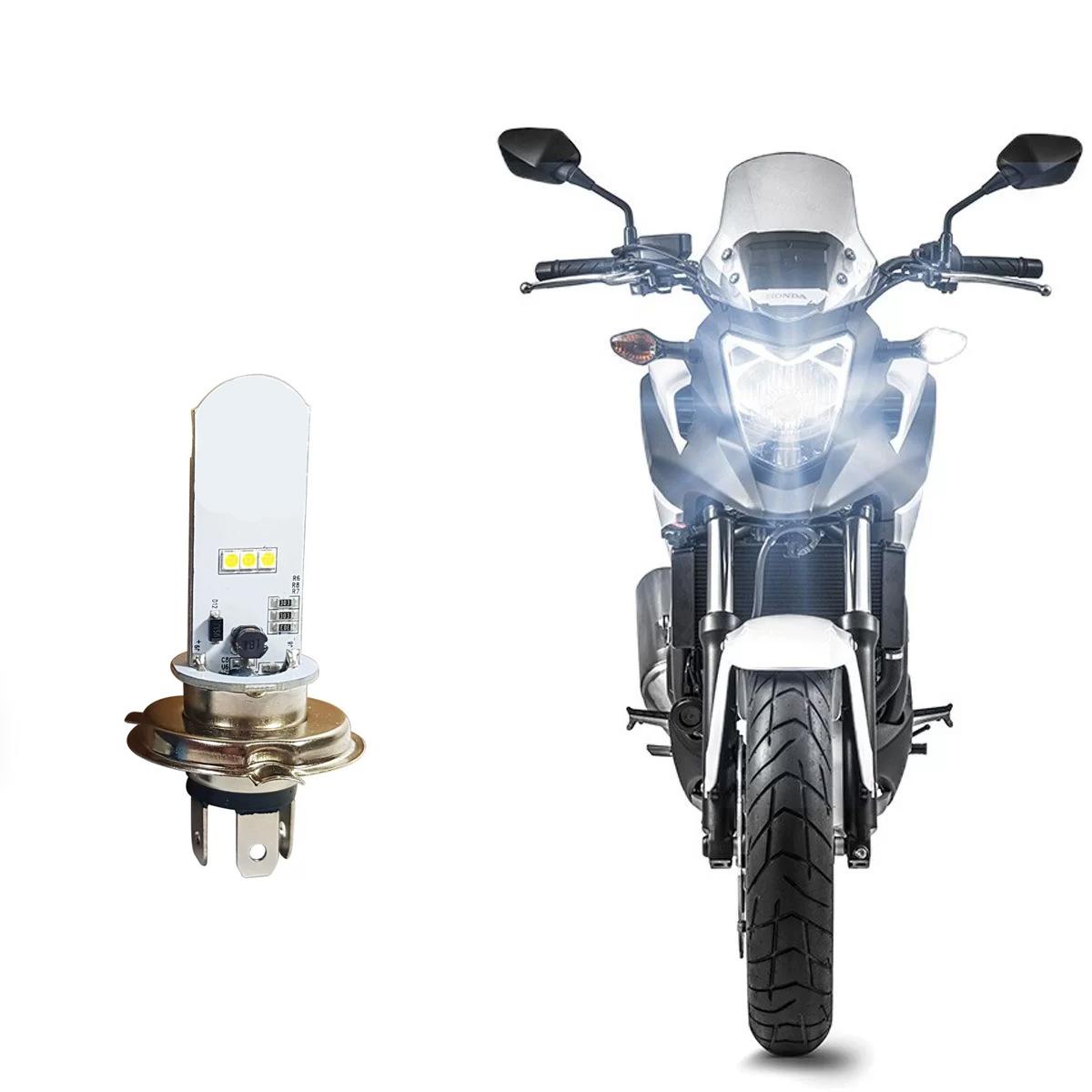 Imagem de FLH4M - Lampada LED H4 moto 3/6W Corrente Continua e Alternada 8000K