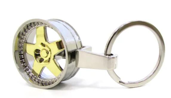 Imagem de CH5016 - Chaveiro Tuning Roda Dub Dourada