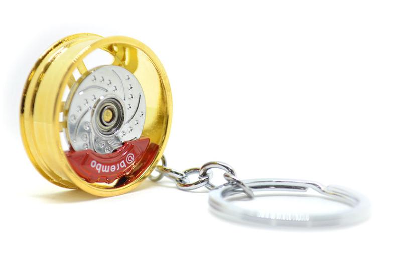 Imagem de CH5017 - Chaveiro Roda c/ Disco Freio Dourada