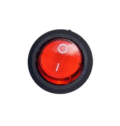 Imagem de D1117 - Chave Gangorra Luz Neon Vermelha 2 Posições 250V (6A) ou 12V (125A)
