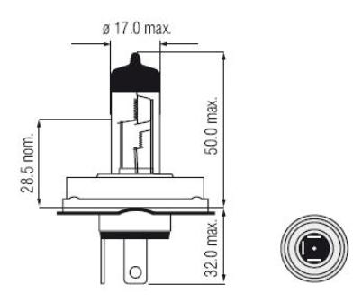 Imagem de LHAH5 - Lampada Convencional H5 55/60W 12V