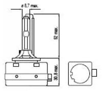 Imagem de LXD1S43K - D1S 4300K Lampada Xenon