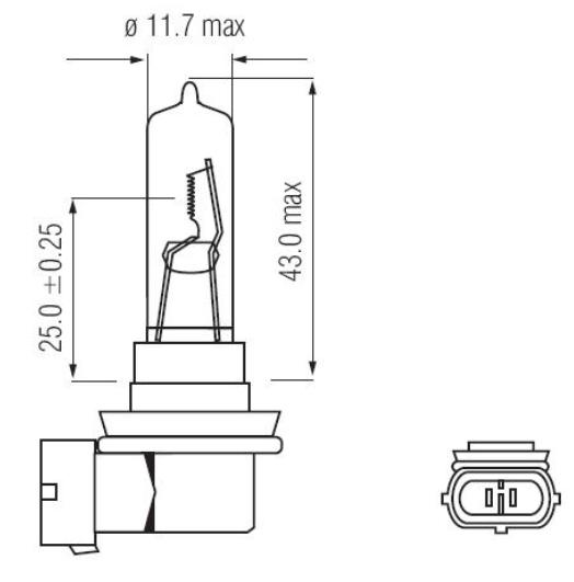 Imagem de LHA009 - Lampada Convencional H9 12v 65w