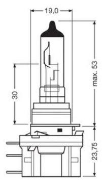 Imagem de LHA015  - Lampada Convencional H15 15/55W 12V