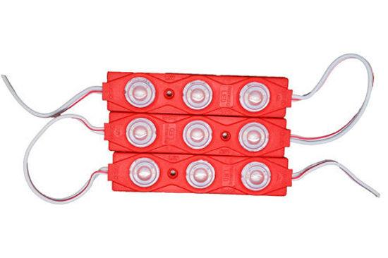 Imagem de C449-SMD - Modulo Led 3 SMD 5630 Lente Difusora Vermelho 12V IP67