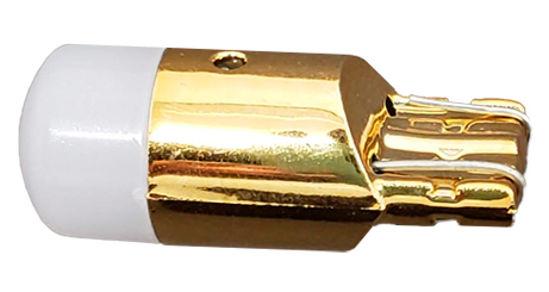 Imagem de LT10-832 - Led T10 1 3030 1,5W 12V Branco Base Dourada Lente Fosca