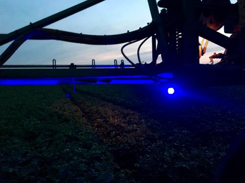 Imagem de F48W-AZ - Farol Spot Pulverização 16 Leds 48W BIVOLT Azul (10,9 x 10,9cm)
