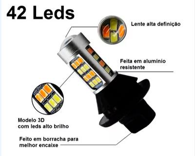 Imagem de DRL-SETA - Kit LED DRL c/ Função Pisca 20W 12V