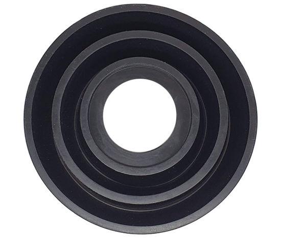 Imagem de TB-SLL04 - Tampa de Borracha p/ Farol (Diâmetro 55-95mm) c/ Furo Interno (Diâmetro 32,5mm)