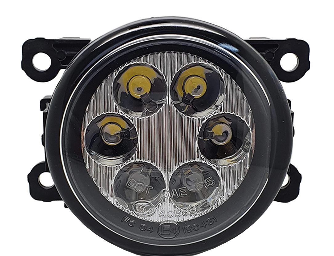 Imagem de FAU-6W  - Kit Led Farol Auxiliar Universal 6W 12V c/ Regulagem de Foco