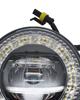 Imagem de FAU-DRL-ANEL - Kit Led Farol Auxiliar Universal 9W 12V c/ DRL Anel e Regulagem de Foco