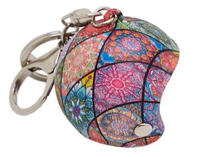 Imagem de CH5064  -  Chaveiro Capacete Rosa c/ Textura