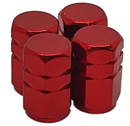 Imagem de TB0636VM - Tampa Bico Ventil Vermelha Hexagonal