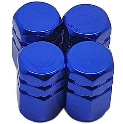 Imagem de TB0636AZ - Tampa Bico Ventil Azul Hexagonal