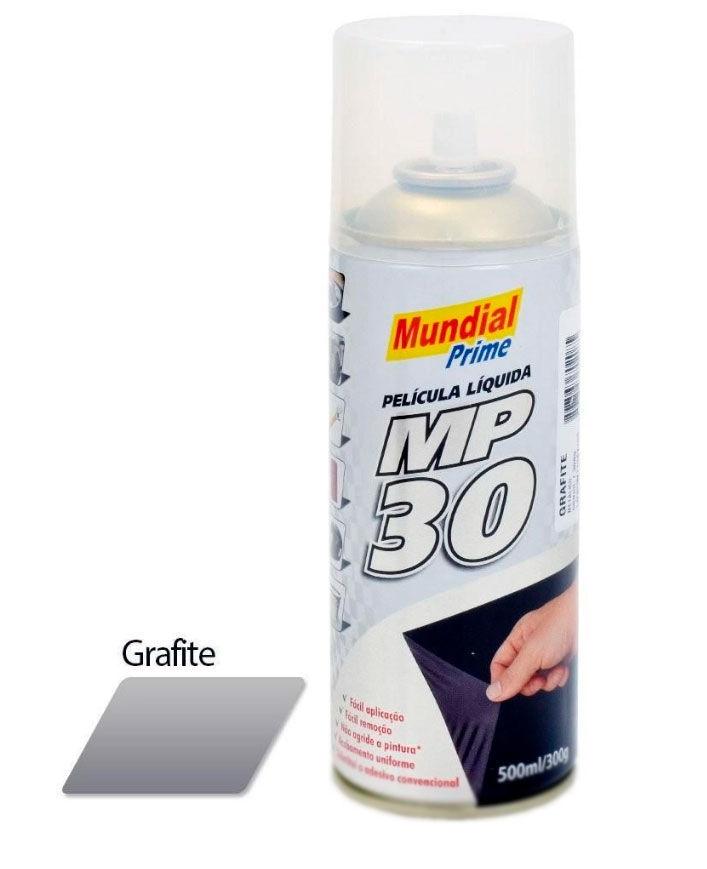 Imagem de PL500ML-GF-MP -  Envelopamento Liquido MP30 500ML SPRAY Grafite Mundial Prime