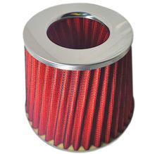 """Imagem de FST3P-M01-VM  - Filtro de Ar Esportivo 3,5 + Anel de Redução 2,5"""" Vermelho 12,8cm"""